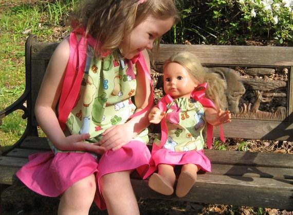 Платье для дочки и куклы