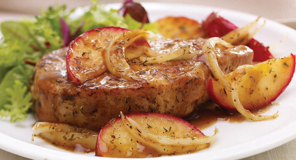 Recipe Inspirations Apple and Sage Pork Chops