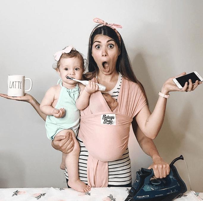 Открытка, веселые картинки для молодых мам