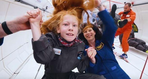 Астронавты помогли детям с инвалидностью побывать в невесомости