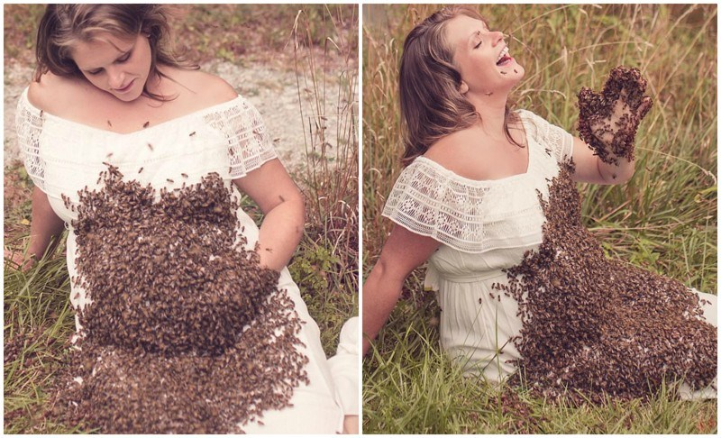 Женщина с пчелами на животе потеряла ребенка