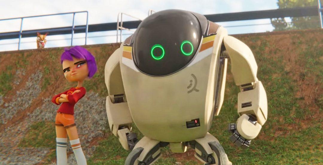 Мультики девочка робот секс
