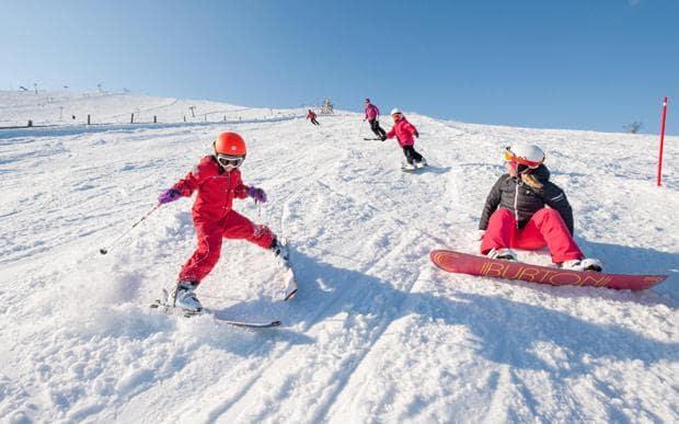 лижі чи сноуборд для дітей